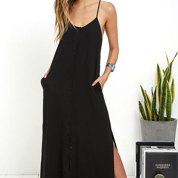 Friday I'm in Love Black Maxi Dress