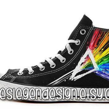 VONR3I Pink Floyd Custom Converse / Painted Shoes
