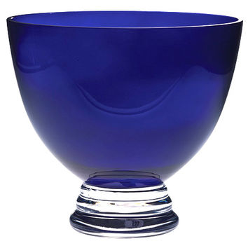 Majestic Gifts T-860 Quality Glass Cobalt Footed Bowl
