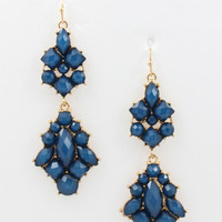 Royale Earrings- Navy