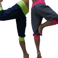 Fitness Workout Exercise Cargo Capri Pants