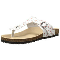 Re-Sole Womens Faux Leather Graphic Thong Sandals