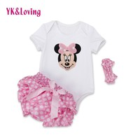 Rompers Outfits  Minnie Mini Mouse Ruffles Jumpsuit Clothes
