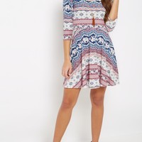 Boho Elephant Skater Dress & Necklace | Casual Dresses | rue21