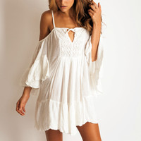 Jen's Pirate Booty El Matador mini dress in white: Soleilblue.com