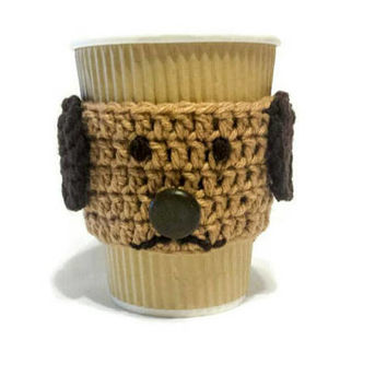 Dog Coffee Sleeve, Pet Owner Gift, Puppy Owner, Pug Cup Wrap, Mug Holder, Low Budget Present, Gift under 15, Doggy Lover Personalized