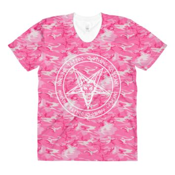 Pentagram Pink Camo Women's T-Shirt