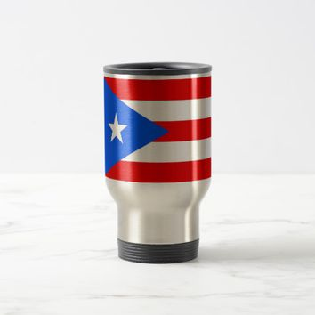 Travel Mug with Flag of Puerto Rico - USA