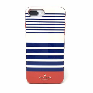 Kate Spade New York Protective Case for iPhone 7 Plus & iPhone 6 Plus - Laventura Red / Navy / Blush