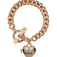 Bow Toggle Heart Crown Bracelet