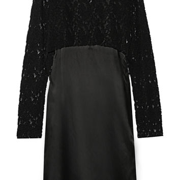 MM6 Maison Margiela - Embroidered tulle and satin midi dress