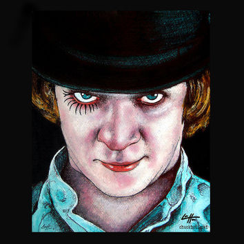 "Print 8x10"" - Alex - A Clockwork Orange Malcolm McDowell Stanley Kubrick Vintage Violence Gangs Murder Society British Punk Pop Art UK"