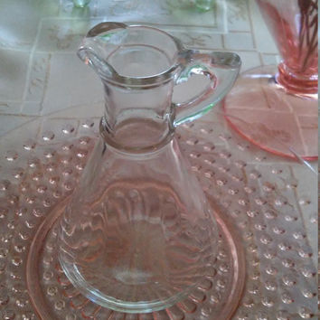 Vintage Anchor Hocking Syrup Decanter Stamped H with A Beneath