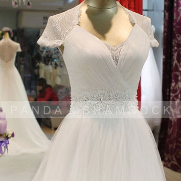 Angel/wedding gown/women clothing/bridal dress/custom made/lace/sweetheart neckline/14006