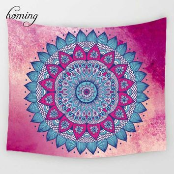 Homing Bohemian Mandala Tapestry Beach Throw Rugs Indian Decor Mandala Tapestry Wall Hanging Hippie for Living Room