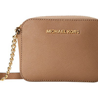 MICHAEL Michael Kors Jet Set Travel Crossbody Pale Gold - Zappos.com Free Shipping BOTH Ways