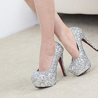 Custom Bling Bling High Heels Wedding Shoes-Sparkle red Crystals Gem Heels shoes-Bling Shoes-Shine Heels Shoes Party Queen Shoes