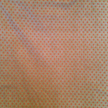 Polka Dot Fabric - La Petite Ecole Stone Fabric  with Red Dots by French General for Moda Fabrics 13563 22 - 1/2 yard