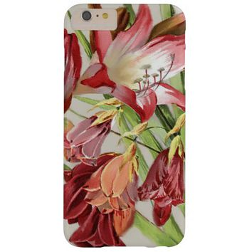 Vintage Flowers Red and Yellow Amaryllis Blossoms Barely There iPhone 6 Plus Case
