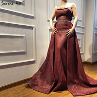 Wine Red Beading Luxury Slim Formal Dresses Style Fashion Sexy Mermaid Evening Gowns