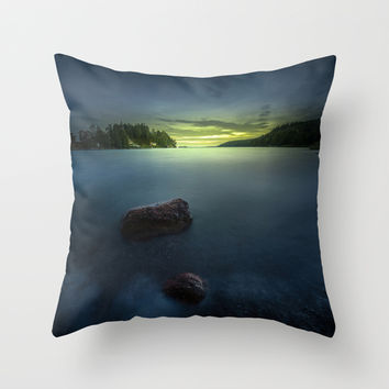Asteroids Throw Pillow by HappyMelvin