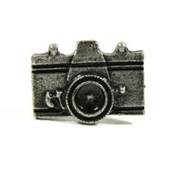 Camera Ring Adjustable Photographer Vintage Silver Tone Retro RE46 Photo Fashion Jewelry