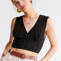 UO Embroidered Eyelet Cropped Top | Urban Outfitters Canada