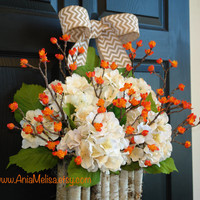 fall wreath fall wreaths for front door fall berry wreaths, year round wreath, berry wreaths, home and living, decor housewares