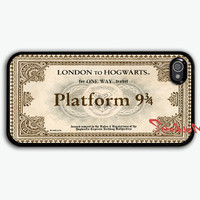 Hogwarts Express, iPhone 4 Case, iPhone 4s Case, Hogwarts Express Train Ticket , black iPhone 4 Hard Case