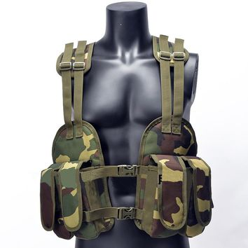 Portable Tactical Chest Rig Outdoor Hunting Vest Adjustable Padded Modular Military Vest