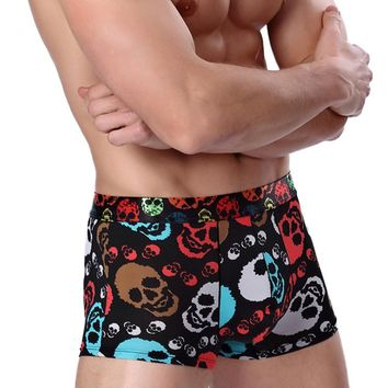 Skull Lot Fashion Underwear Men Boxer Shorts Mens Boxer Funny Sexy Soft Print Boxer Male Panties Comfortable Underpants