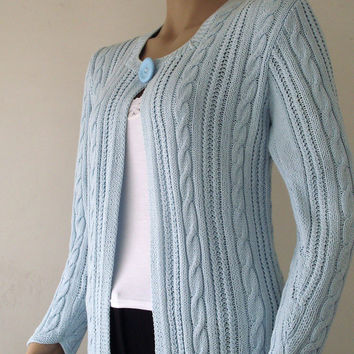 Hand-knitted Cardigan!!! WINTER 2015  classic style long cardigan. FORMALHOUSE