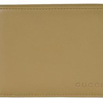 Gucci Men's Leather Bi-fold Wallet 278596 2608 Light Olive
