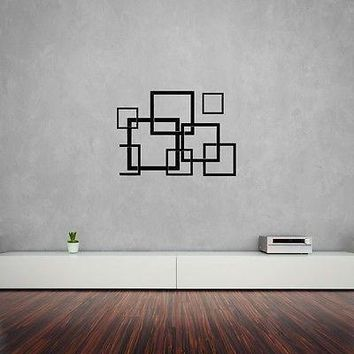 Vinyl Decal Wall Sticker Modern Squers Abstract For Living Room Bedroom Unique Gift (z1602)