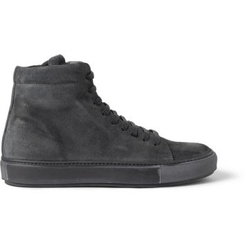 Acne Studios - Adrian Suede High Top Sneakers | MR PORTER