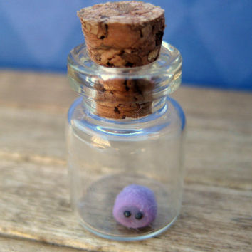 Pygmy Puff in a Bottle an adorable micromini pet by LittleWooStudio