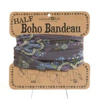 Natural Life Half Boho Bandeau Headbead and Accessory in Mauve BBW027
