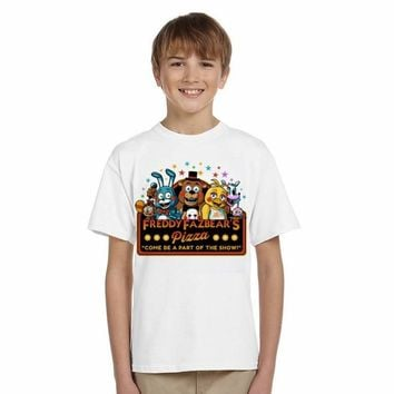 LYTLM Funny Clothes for Kids Five Night at Freddy Baby Boy Summer Shirts  Clothing 5 Tops Tee roupas infantis menino