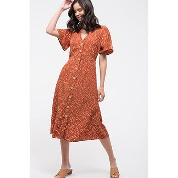 Autumn Leaves Midi Dress