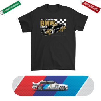 BMW E30 M3 Skateboard Deck and Premium T-shirt Bundle ++