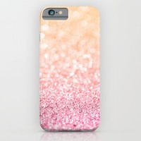 Pink and Orange Glitter iPhone & iPod Case by heartlocked