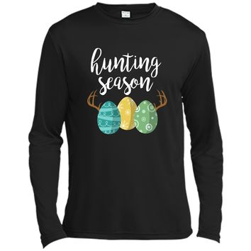 Hunting Season - Cute Bunny Funny Easter Shirt Long Sleeve Moisture Absorbing Shirt