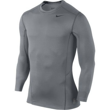 New Nike Men's Pro Combat Hyperwarm Lite Fitted Shirt Cool Grey/Black/Black XX-Large