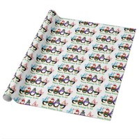 Penguin Happy Holidays Christmas Wrapping Paper
