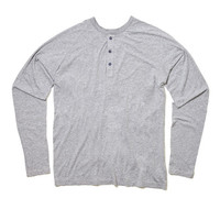 Splendid - Splendid Mills Gray Long Sleeve Henley