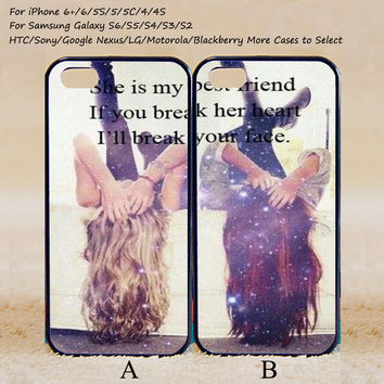 Every brunette need a blonde Best Friend,Couple Case,Custom Case,iPhone 6+/6/5/5S/5C/4S/4,