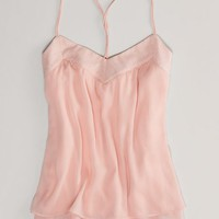 AEO Women's Metallic Dot Chiffon Cami