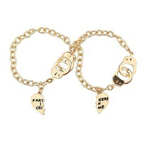 Partners In Crime Handcuff Hand Matching Bracelet Set