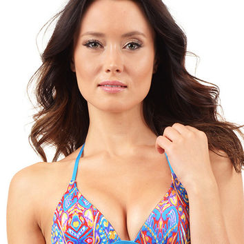Voda Swim Envy Push Up String Bikini Top in Zanzibar