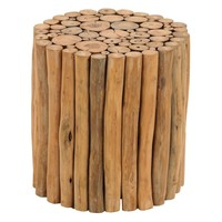 Aspire Home Accents Natural Teak Branch Wood Stool | www.hayneedle.com